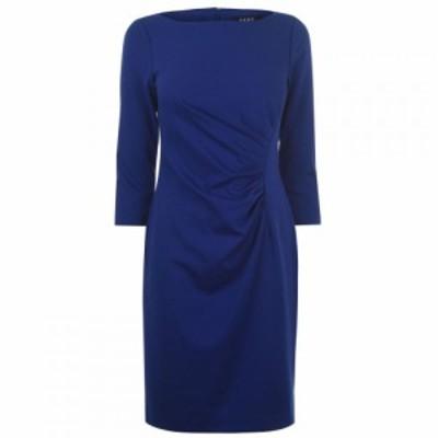 ディーケーエヌワイ DKNY Occasion レディース ワンピース ワンピース・ドレス Ruched Ponte Dress MARINE