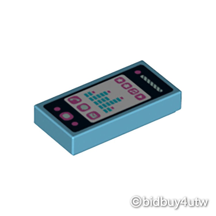 LEGO零件 印刷平滑磚 1x2 3069bpb279 湖水藍色 6038640【必買站】樂高零件