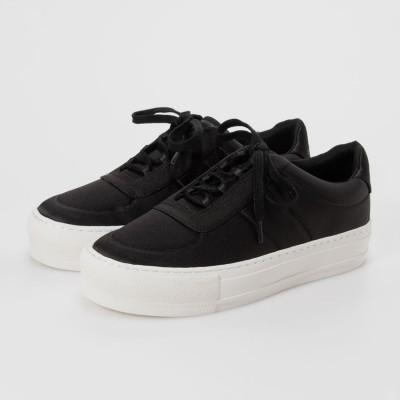 サテン プラットフォームスニーカー / Satin Platform Sneakers (Black)