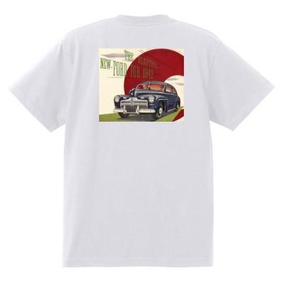 アドバタイジング フォード Tシャツ 白 1098 黒地へ変更可 1942 ホットロッド ローライダー ロカビリー アドバタイズメント レッドスレッド