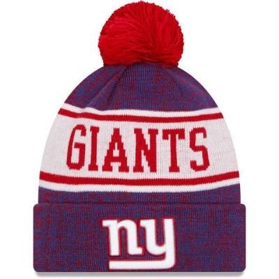 ニューエラ メンズ 帽子 アクセサリー New Era Men's New York Giants Blue Banner Knit Pom Beanie