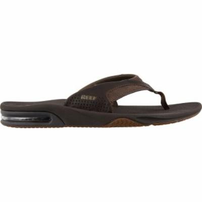リーフ Reef メンズ ビーチサンダル シューズ・靴 Leather Fanning Flip Flops Dark Brown
