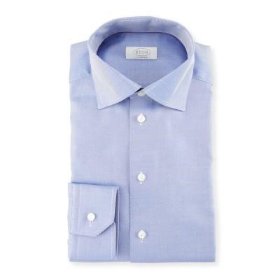 エトン メンズ シャツ トップス Contemporary-Fit Cavalry Twill Dress Shirt