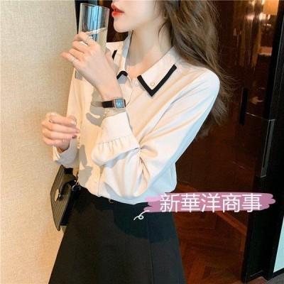 ブラウス レディース 長袖 オフィス 春服 40代 20代 トップス シフォンシャツ 無地 きれいめ おしゃれ 大きいサイズ 体型カバー 着痩せ 韓国風 大人 上品 新品