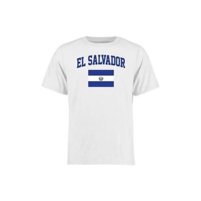 海外バイヤーおすすめ Tシャツ トップス ウエア El Salvador ホワイト フラッグ Tシャツ