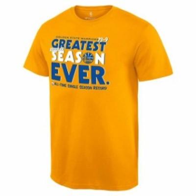 Fanatics Branded ファナティクス ブランド スポーツ用品  Golden State Warriors Gold Record Breaking Season Exclusive Greatest Seas