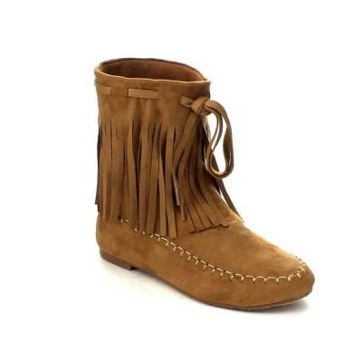 ブーツ シューズ 靴 海外厳選ブランド BOLARO レディース ファッション Fリングe Trim Moccasin スタイル ミドル丈 ブーツ BC5052-SR CAMEL