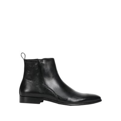 STEFANO BONFIGLIOLI ショートブーツ ブラック 45 牛革(カーフ) 100% ショートブーツ
