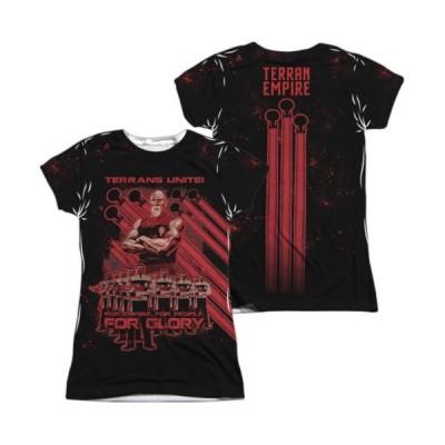 Tシャツ スタートレック Star Trek Terrans Unite TNG Sublimation All Over Junior T Shirt