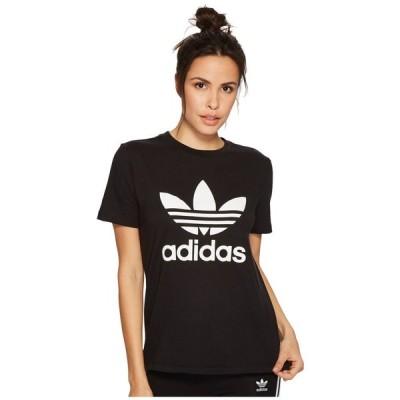 アディダス adidas Originals レディース Tシャツ トップス Trefoil Tee Black/White 3