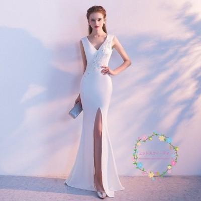 ウエディングドレス 安い マーメイドドレス 白 花嫁 結婚式 ロングドレス 二次会 パーティードレス ブライダル 披露宴 お呼ばれドレス 大きいサイズ