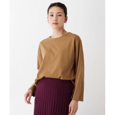 【M-L/洗濯機で洗えて毛玉になりにくい】コットンロングTシャツ