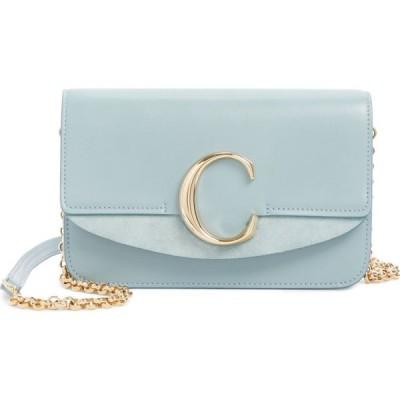 クロエ CHLOE レディース ショルダーバッグ バッグ Mini Leather Shoulder Bag Faded Blue