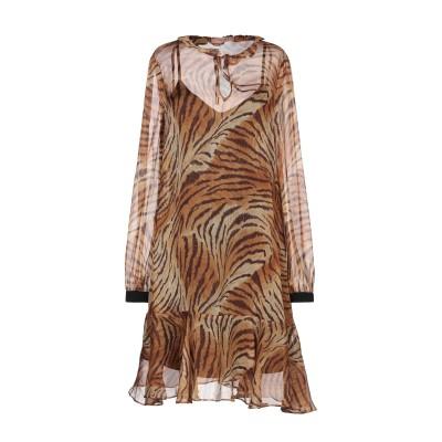 ツインセット シモーナ バルビエリ TWINSET ミニワンピース&ドレス キャメル 38 シルク 100% / ポリエステル ミニワンピース&ドレス