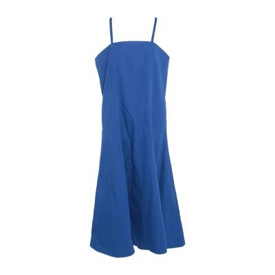 PLAN C ロングワンピース&ドレス ブルー 38 コットン 100% ロングワンピース&ドレス