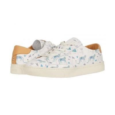 Soludos ソルドス レディース 女性用 シューズ 靴 スニーカー 運動靴 Blue Leopard Sneaker - White