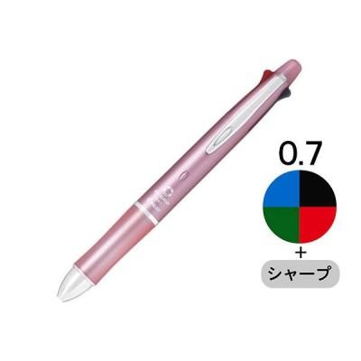 多機能ボールペン ドクターグリップ4+1 0.7mm ベビーピンク軸 4色+シャープ PBKHDF1SFNBP パイロット