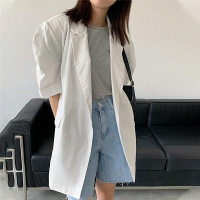 超人気インスタグラムで話題 韓国ファッション ブレザー トレンド パフスリーブ トップス エレガント