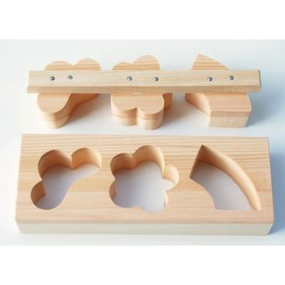 ライス型 ひのき物相型 3ツ型 《865703》 【日本製 木製 ごはん型 松 竹 梅 桧 ヤマコー てまひま工房】
