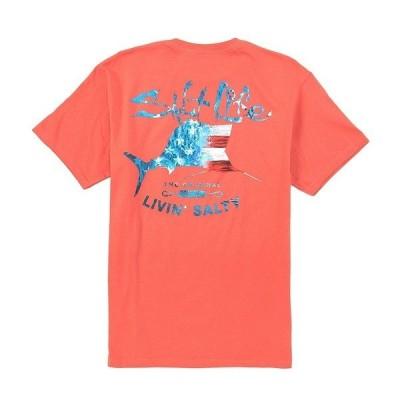 ソルトライフ メンズ Tシャツ トップス Short-Sleeve Amerisail Graphic T-Shirt Burnt Coral