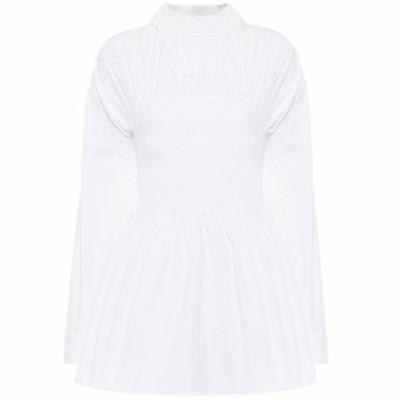 レジーナ ピヨ Rejina Pyo レディース ブラウス・シャツ トップス Vera cotton-poplin blouse Off White