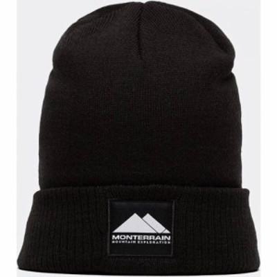 Monterrain メンズ ニット ビーニー 帽子 Peak Beanie Black