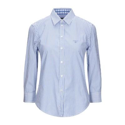 ガント GANT シャツ アジュールブルー 46 コットン 97% / ポリウレタン 3% シャツ