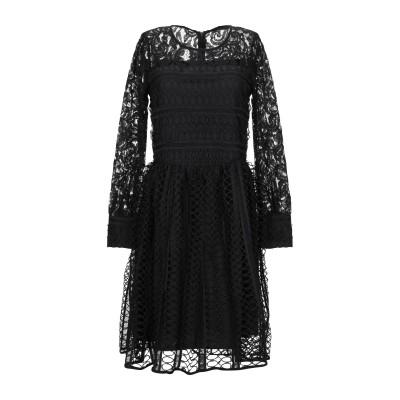 BRIGITTE BARDOT ミニワンピース&ドレス ブラック 0 コットン 50% / ポリエステル 50% ミニワンピース&ドレス
