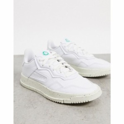 アディダス adidas Originals レディース スニーカー シューズ・靴 Clean Classics Sustainable SC Premiere trainers in white ホワイト