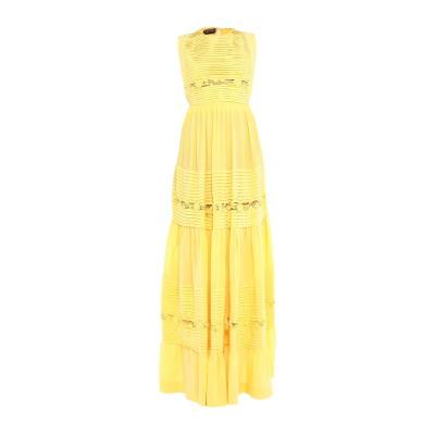 ロシャス ROCHAS ロングワンピース&ドレス イエロー 38 シルク 100% / ナイロン ロングワンピース&ドレス