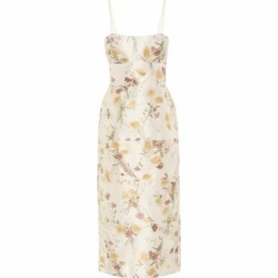 ブロック コレクション Brock Collection レディース ワンピース ミドル丈 ワンピース・ドレス rachele floral silk midi dress Natural