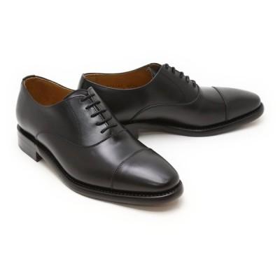 ビジネスシューズ 本革 ストレートチップ キャップトゥ メンズ 革靴 本革 ビジネスシューズ クインクラシコ ドレスシューズ 4276bk ブラック(黒) キャップトゥ