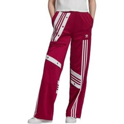 アディダス レディース カジュアルパンツ ボトムス adidas Women's High Waisted Track Pants Power Berry/White