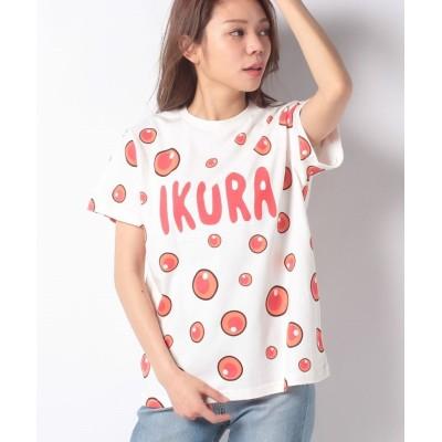 【プニュズ】 フード総柄Tシャツ レディース レッド 2 PUNYUS