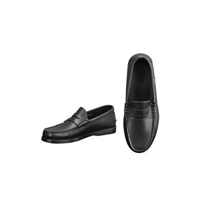 パラブーツ コインローファー メンズ靴 ブラツク 黒 オイルドレザー CORAUXモデル 7サイズ(26.0cm相当)