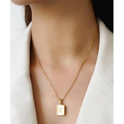 florist / シェルプレートイニシャルネックレス WOMEN アクセサリー > ネックレス