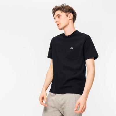 ラコステ LACOSTE ベーシッククルーネックポケットTシャツ (半袖) (ブラック)