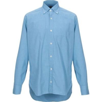 ダノリス DANOLIS メンズ シャツ トップス Checked Shirt Azure