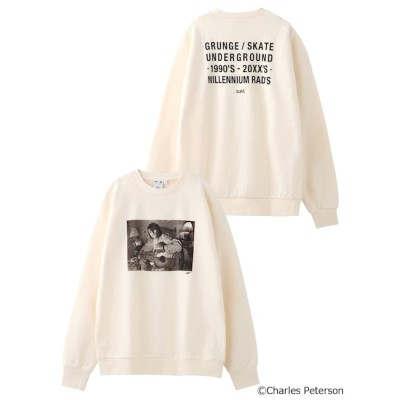 【エックスガール/X-girl】 X-girl × Charles Peterson GRUNGE BIG SWEAT TOP