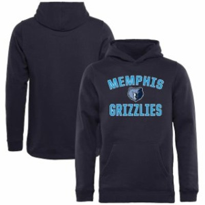 Fanatics Branded ファナティクス ブランド スポーツ用品  Memphis Grizzlies Youth Navy Victory Arch Pullover Hoodie