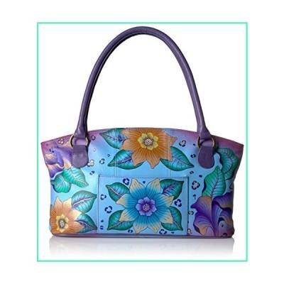 Anna by Anuschka Tote Bag | Genuine Leather | Wide, Tropical Safari並行輸入品