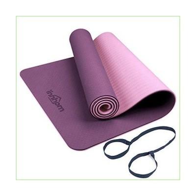 Yoga Mat innhom Yoga Mats for Women 1/3 inch Thick Yoga Mat for Men Exercise Mat Workout Mat for Yoga Pilates Home Gym Yoga Mat Non Slip wit