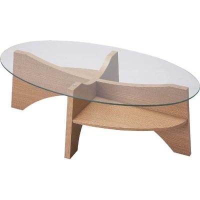 ガラステーブル オーバルテーブル [LE-454] 【送料無料】 <br> ガラスセンターテーブル ラウンドテーブル 座卓 ラウンド ローテーブル