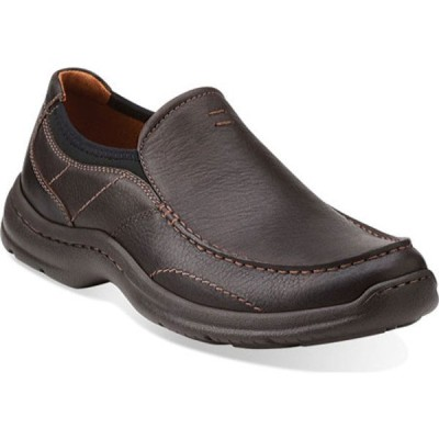 クラークス スニーカー シューズ メンズ Niland Energy Slip-on (Men's) Brown Tumbled Leather