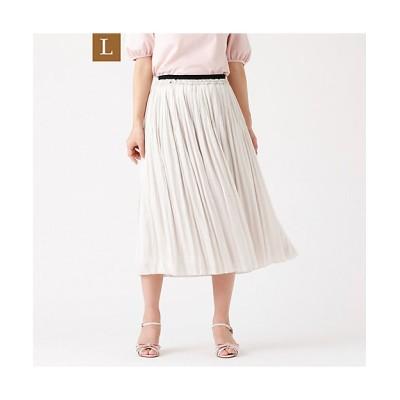 <TO BE CHIC L(Women)/トゥー ビー シックL> 大きいサイズ【L】エアフローサテンスカート(W7S27313__) ベージュ【三越伊勢丹/公式】