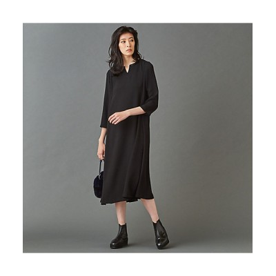 <L'EQUIPE(Women)/レキップ> ストレッチB・Satinワンピース ブラック【三越伊勢丹/公式】