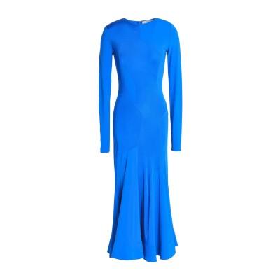 エステバン コルタサル ESTEBAN CORTAZAR 7分丈ワンピース・ドレス ブライトブルー 36 レーヨン 70% / アセテート 18%