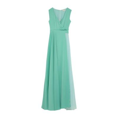 ALEX VIDAL ロングワンピース&ドレス グリーン 40 ポリエステル 100% ロングワンピース&ドレス