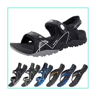 【新品】Ortho Outdoor Water Sandals for Men & Women: 8661 Black Grey, EU40 (Women Size 9.5-10 / Men Size 8-8.5)(並行輸入品)