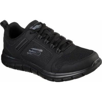 スケッチャーズ メンズ スニーカー シューズ Men's Skechers Track Knockhill Sneaker Black/Black